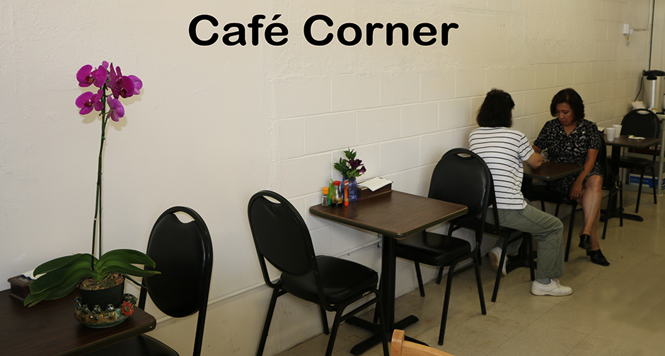 Korean cafe corner